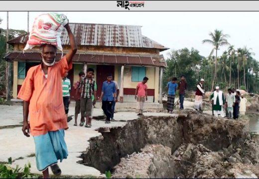 সুরমা-কুশিয়ারার ভাঙনে বিলীন হচ্ছে গ্রামের পর গ্রাম