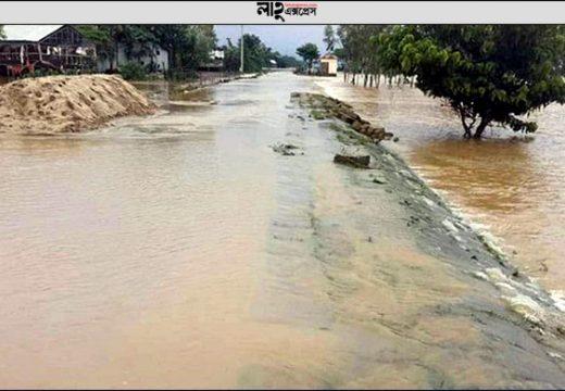 সুনামগঞ্জে পাহাড়ি ঢলে নিম্নাঞ্চল প্লাবিত