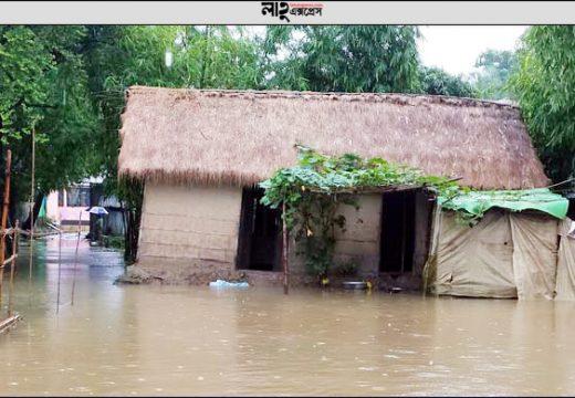 সুরমা নদীর পানি বৃদ্ধি: যোগাযোগ বিচ্ছিন্ন তাহিরপুর