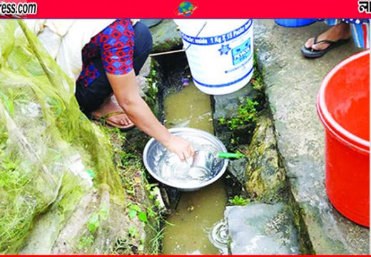 কুলাউড়া রেল কলোনিতে পানির জন্য হাহাকার
