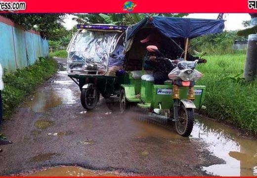 জুড়ীতে যান চলাচলের অনুপযোগী জাঙ্গিরাই-নয়াগ্রাম সড়ক