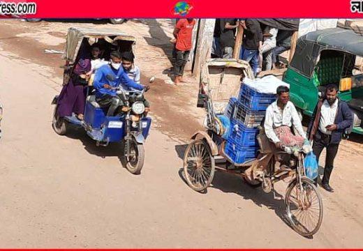 জুড়ীতে ব্যাটারিচালিত রিকশার 'দৌরাত্ম্য', দিতে হয় মোটা অংকের মাসোহারা