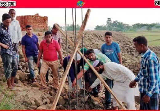 বড়লেখার শাহবাজপুরে মুক্তিযোদ্ধা এলপিজি ফিলিং স্টেশন নির্মাণ কাজের উদ্বোধন